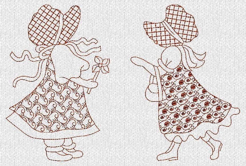 INSTANTÁNEA descargar diseños de bordados de Duvet Sunbonnet Sue ...