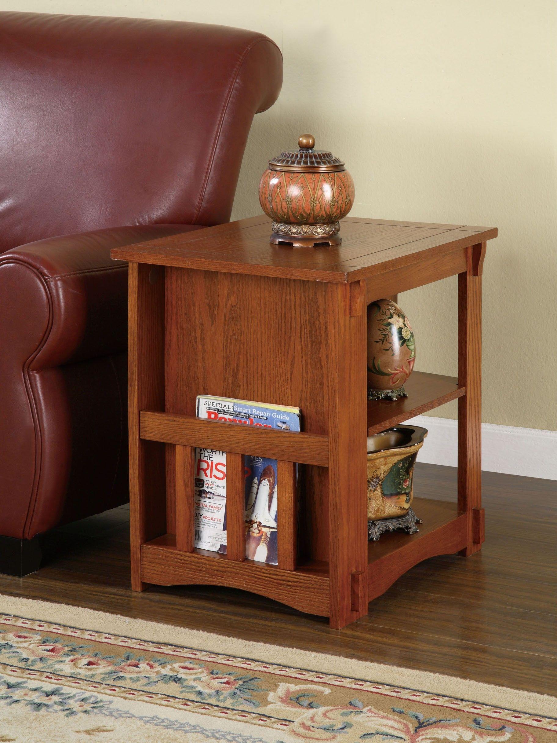 Gray Mission Oak Cabinet Table