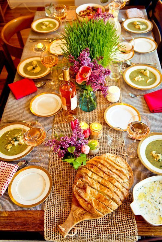 Spring Dinner Party Menu Ideas Part - 37: A Spring Vegetarian Dinner For Six U2014 Gatherings From The. Vegetarian Dinner  PartiesVegetarian DinnersVegetarian ...