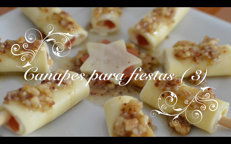 Canapes para fiestas 3 faciles rapidos y baratos de Plato rapido y facil de preparar