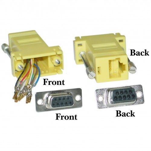 Modular Adapter Yellow Db9 Female To Rj45 Jack Rj45 Modular Adapter