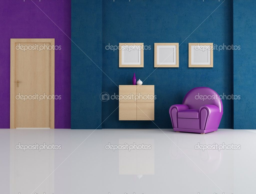 blue and purple room - google search | home (nursery-underwater