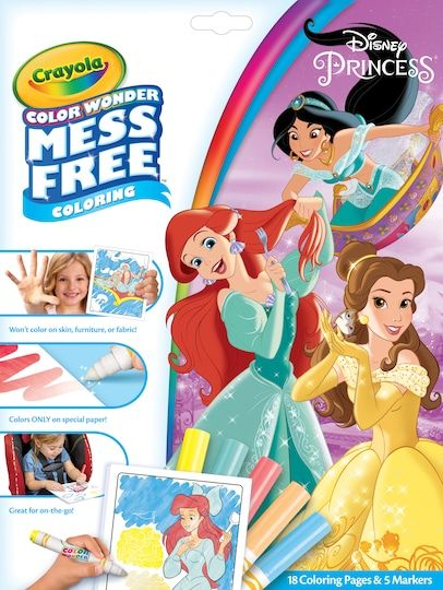 18 Pack: Crayola® Color Wonder™ Mess Free™ ©Disney Princess Coloring Pad & Markers By Crayola Color Wonder   Michaels®