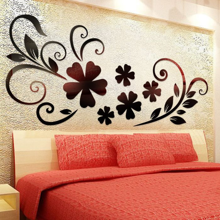 Crystal Acrylic Bedroom Adult Wall Stickers Mirror Decals For