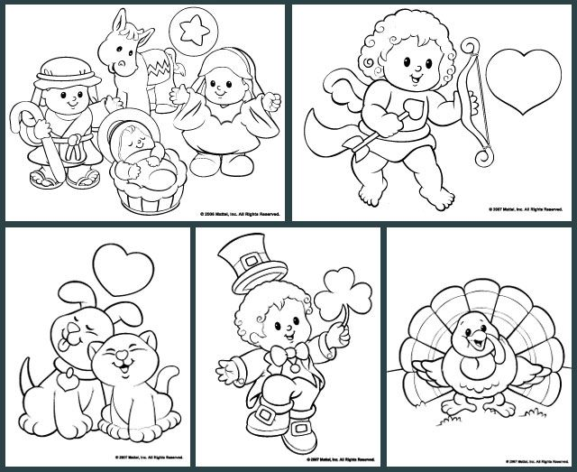 Little People® Coloring Pages | Kleurplaten | Pinterest | People and ...