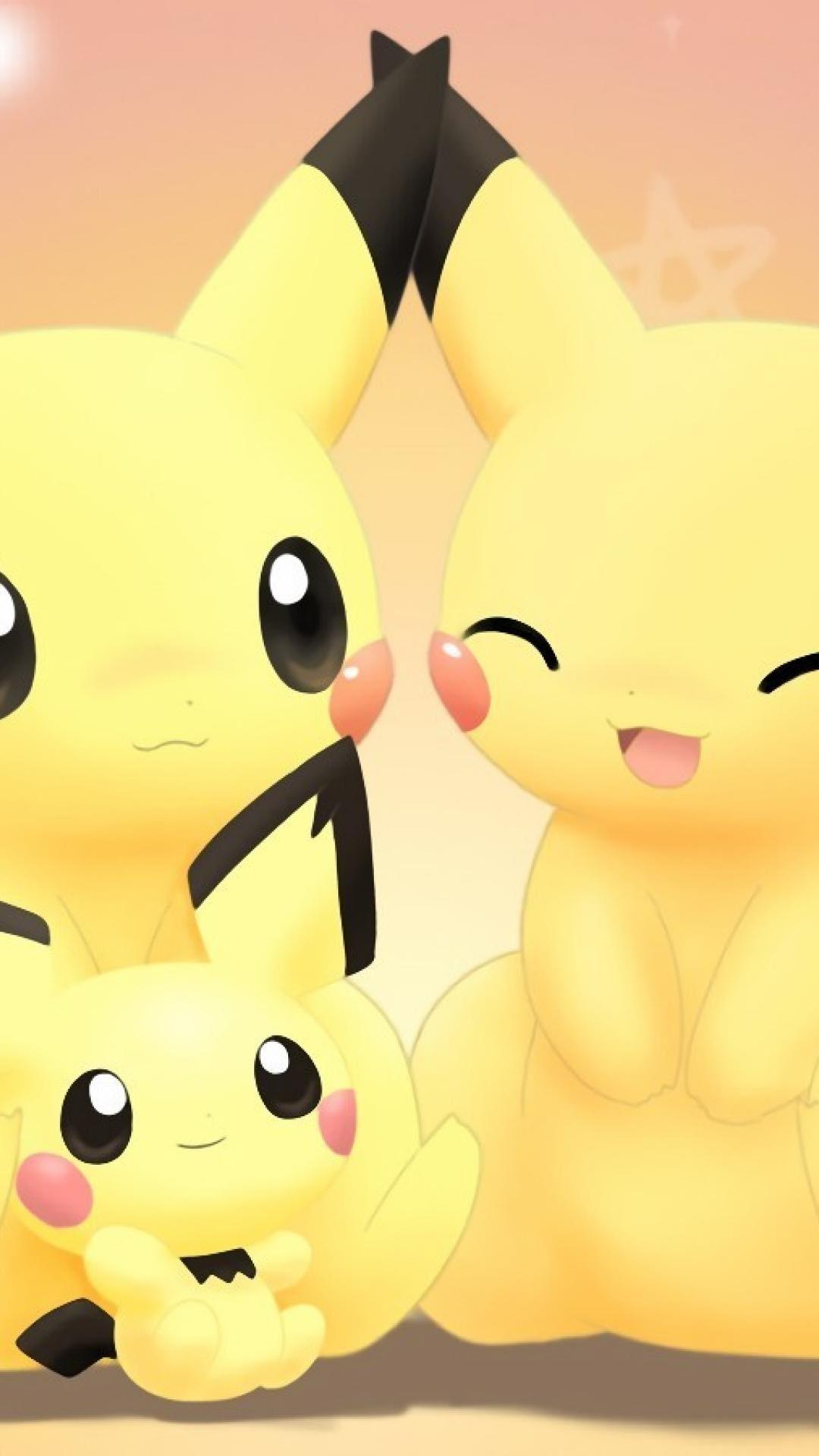 pokemon cute pikachu girly love iphone 6 plus 1080x1920