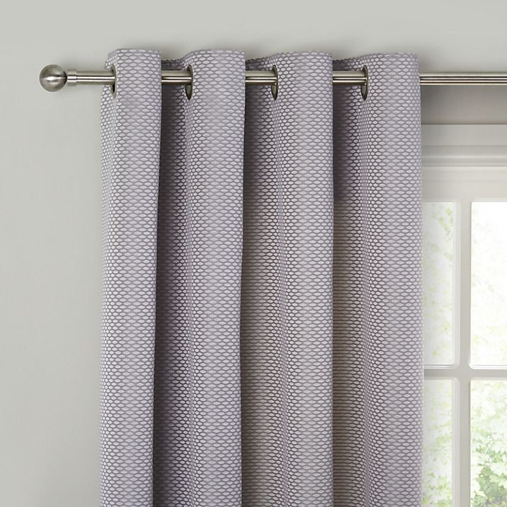 Buy John Lewis Contour Lined Eyelet Curtains, Blue / Grey, W167 x ...