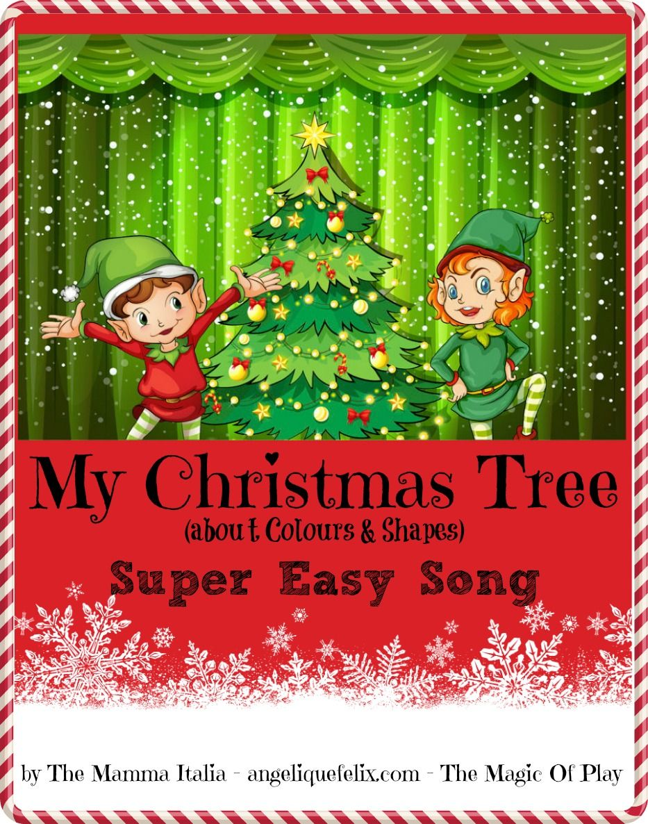 Super Easy Christmas song for Kids - colors & shapes - CHRISTMAS ...