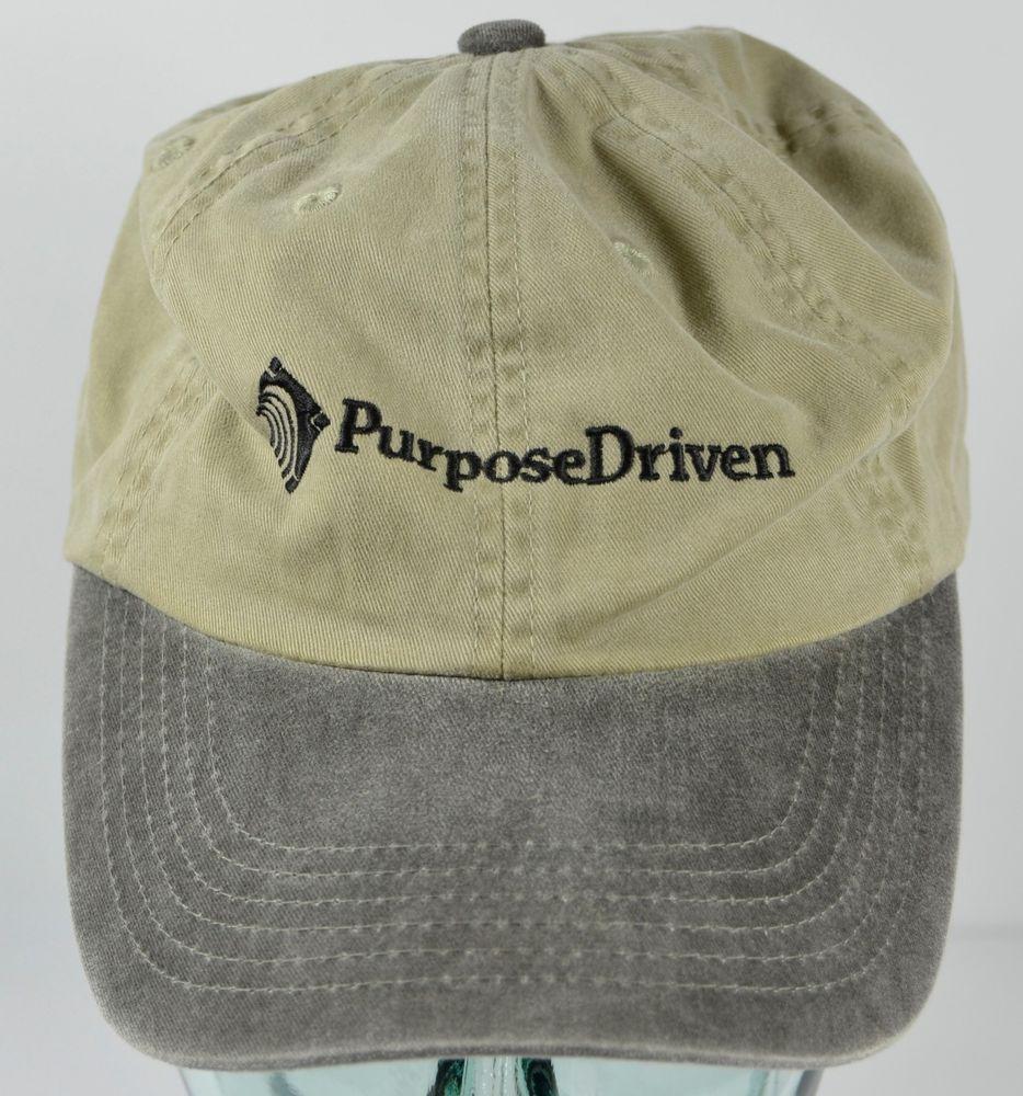 Purpose Driven Beige Hat Strapback Adjustable Cotton Cap a3397079d57d