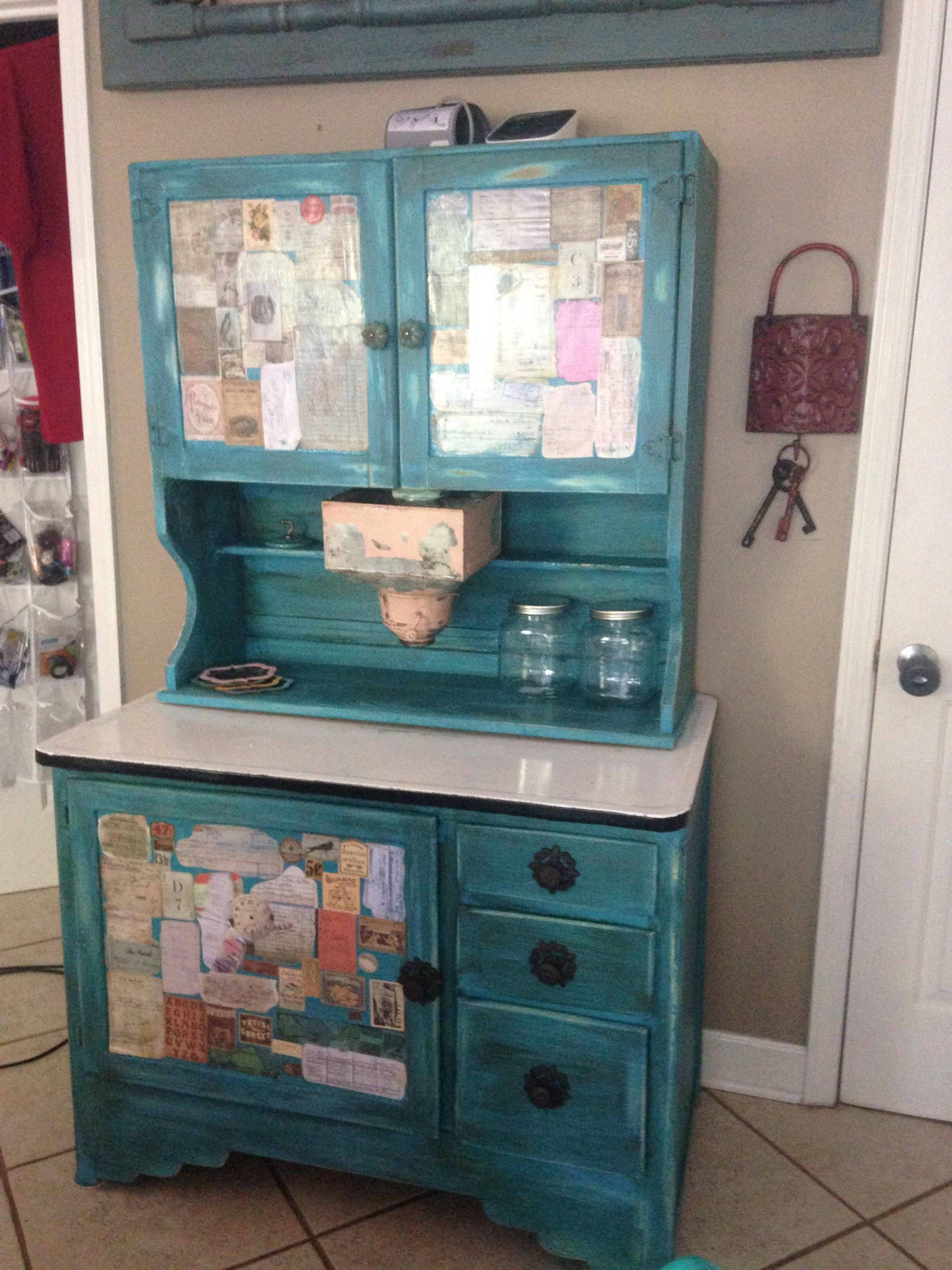 Hoosier cabinet, diy furniture, diy chalkpaint, diy rehab