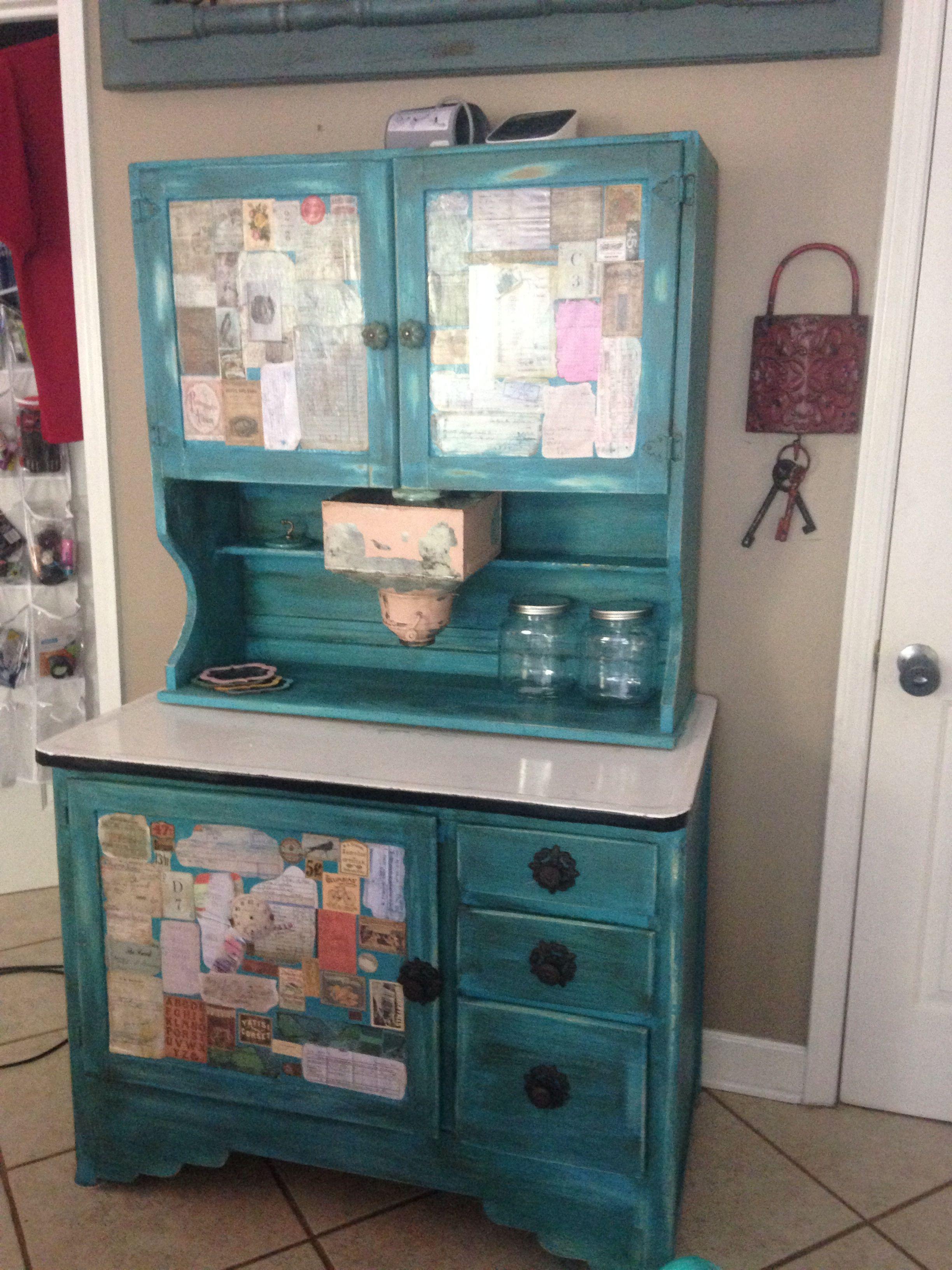 Hoosier cabinet, diy furniture, diy chalkpaint, diy rehab