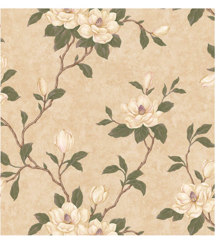 Lilith Beige Floral Branch Wallpaper Magnolia wallpaper