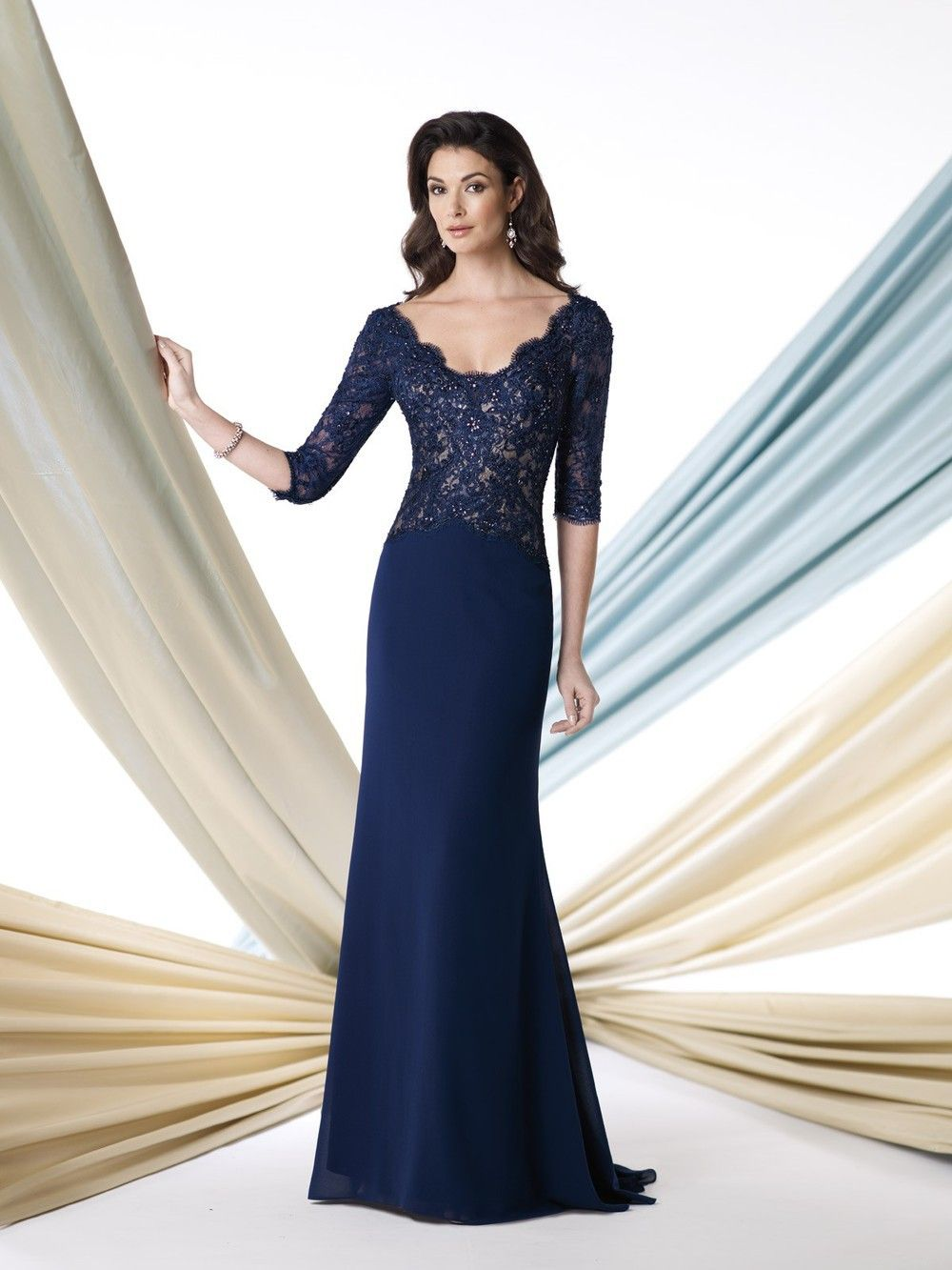 b377d58e31 elegant style custom made royal blue long lace evening dress mother of the bride  dresses with sleeves