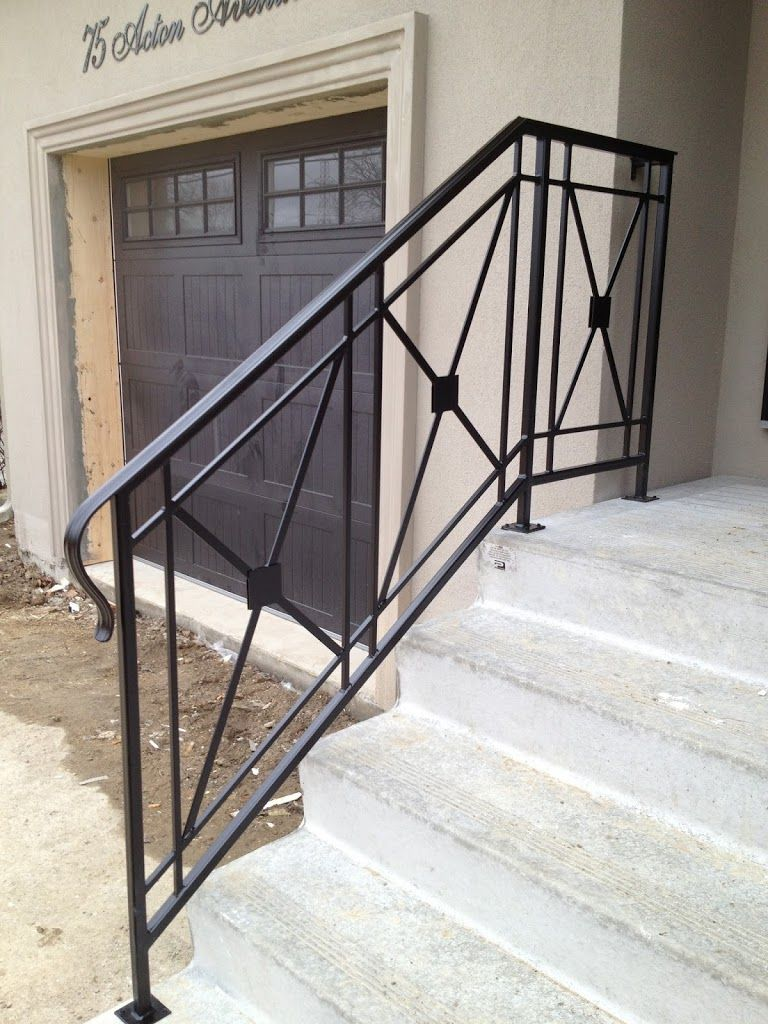 Jag iron railings exterior railings wrought iron - Exterior wrought iron handrails for steps ...