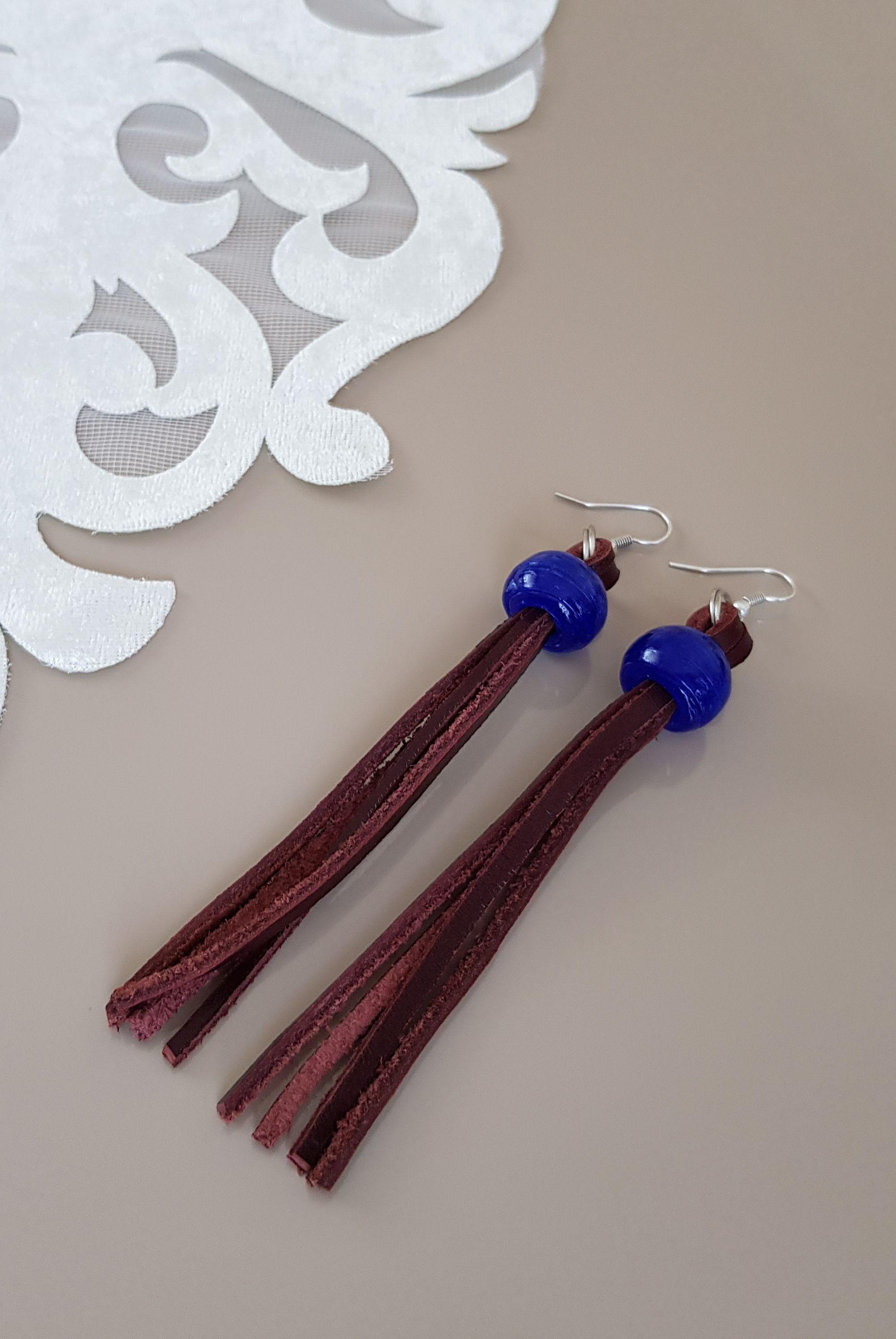 Fashion Bohemian Handcrafted Long Midnight Black Tassel Dangle Drop Earrings Perfect Gifts