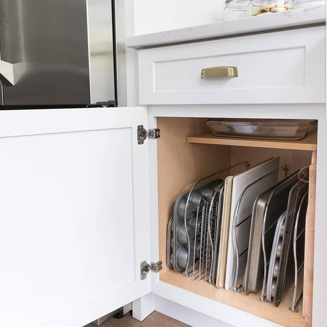 Storage Inspo It S A Simple And Easy Solution For Storing Trays Chopping Boar Kitchen Cabinets Storage Organizers Diy Kitchen Storage Kitchen Cabinet Storage