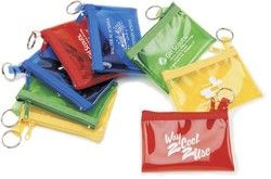 Zip Purses with Key Ring