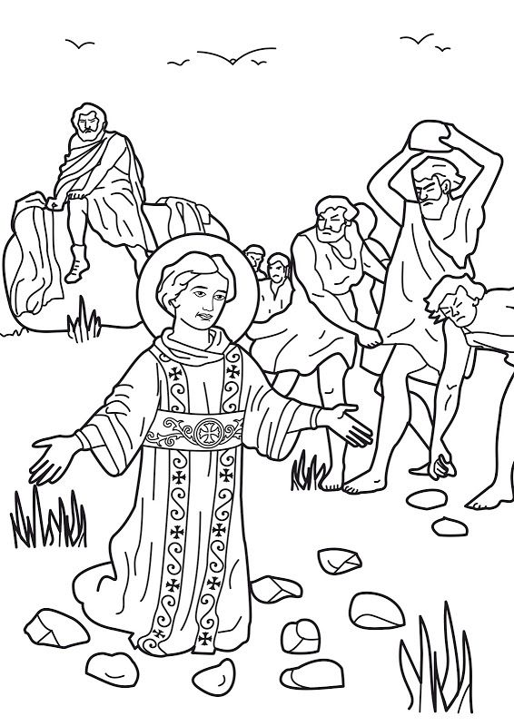 Coloring Page Of Saint Stephen