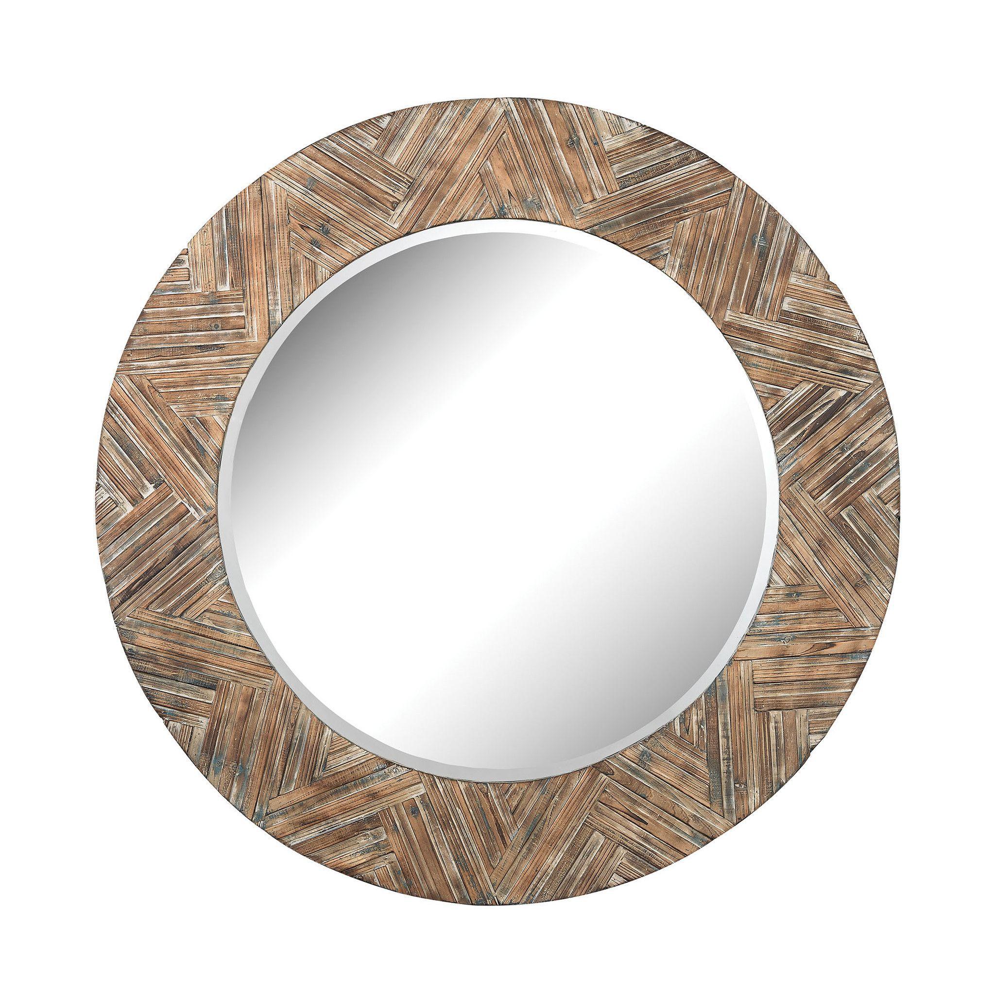 large round wicker mirror design by lazy susan