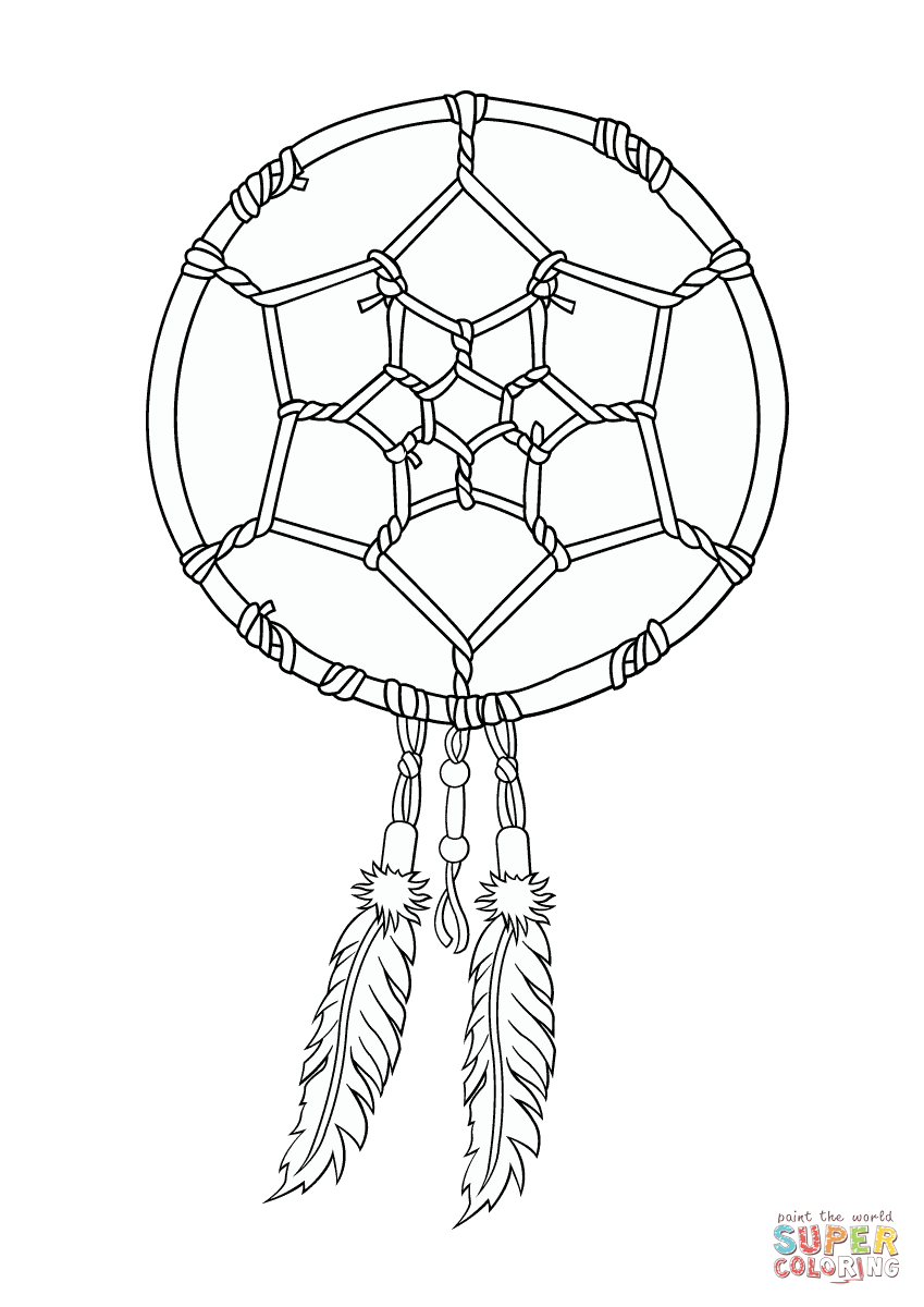dream catcher coloring pages catcher coloring pages to and print for 4282