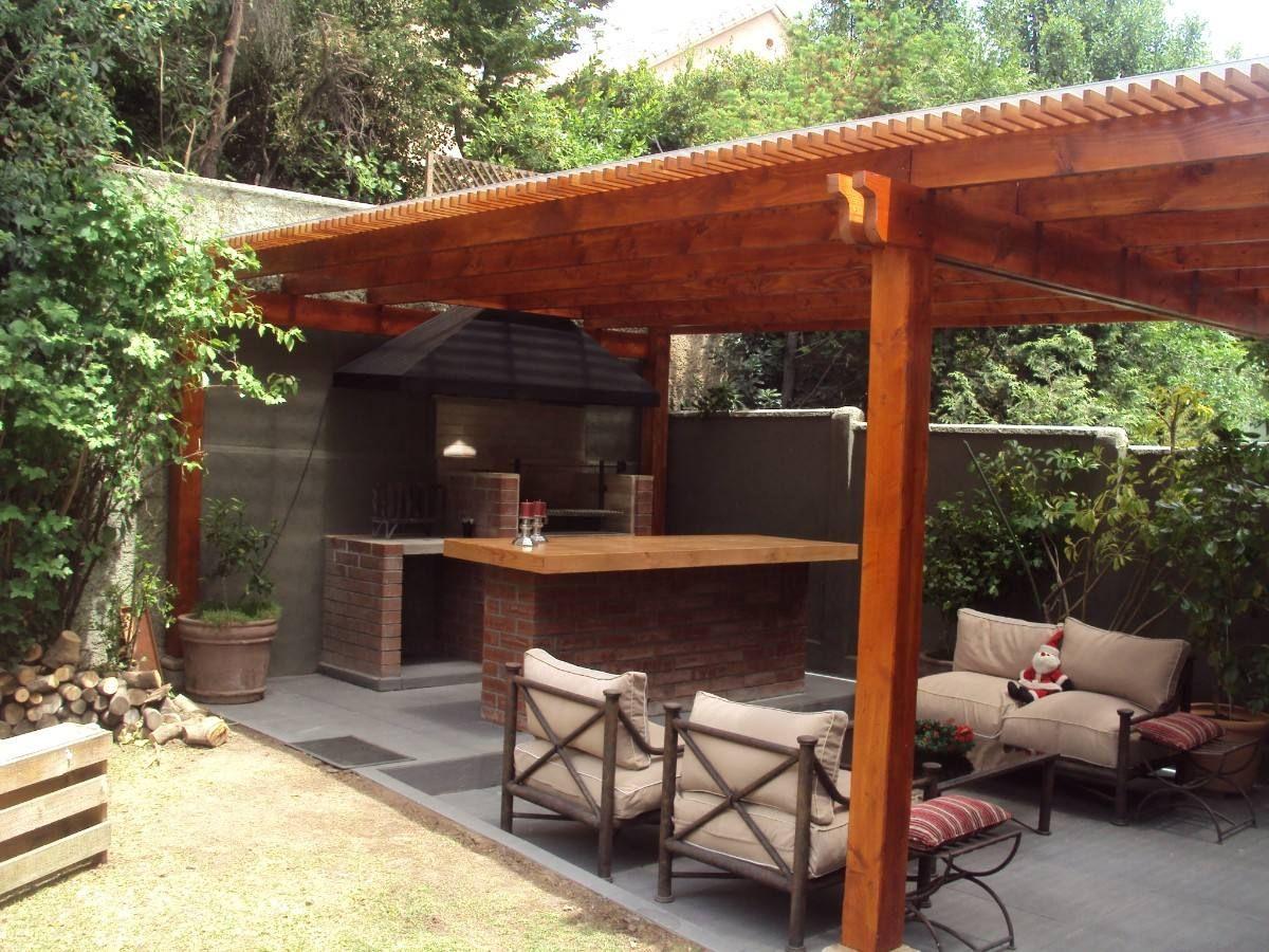 Quinchos pergolas cobertizosasaderas mlc f 3617231189 for Cobertizo de jardin moderno de techo plano