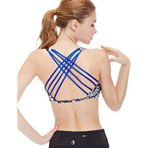 2d5073e159 icyZone Women s Workout Yoga Clothes Strappy Crisscross Racerback Sports  Bras