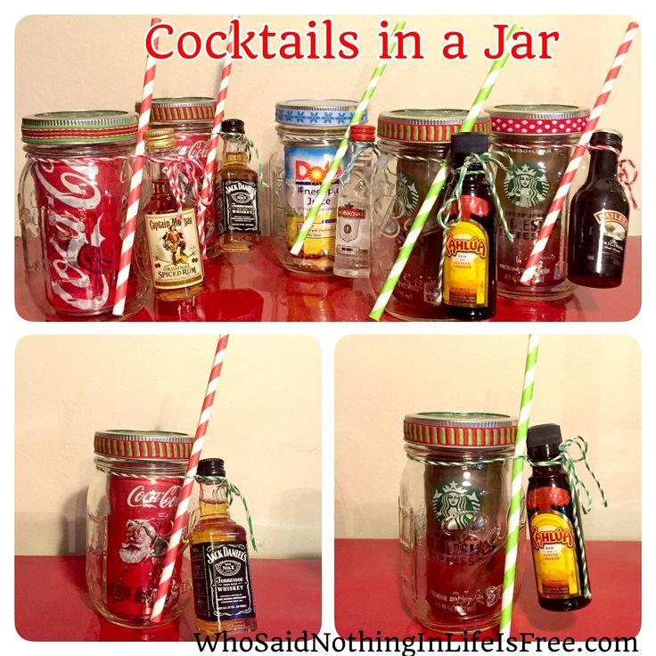 Jarred Christmas Gifts: DIY Holiday Gift Idea - Cocktails In A Jar