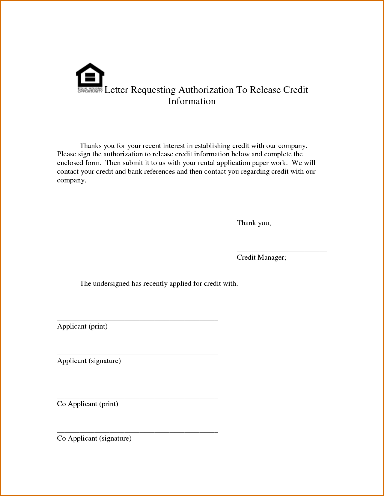 Authorization Letter Sample General Release Information