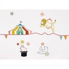 Sticker frise cirque d co chambre d 39 enfant pinterest for Createur deco maison