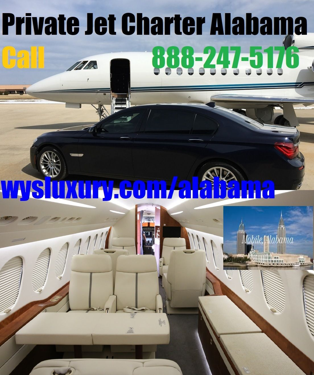 Private Jet Charter Flight Mobile Dothan Enterprise Al Airplane