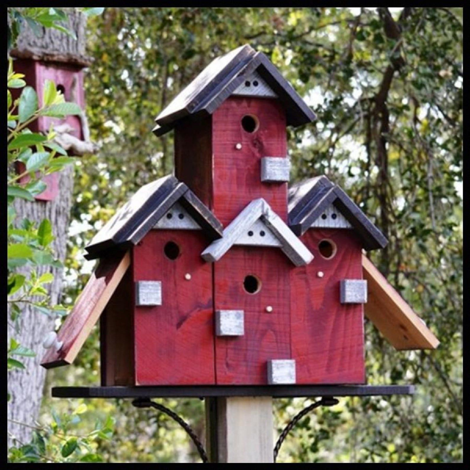 Large Birdhouse For Outdoors Special Order Post Mount Etsy Large Bird Houses Bird House Bird Houses