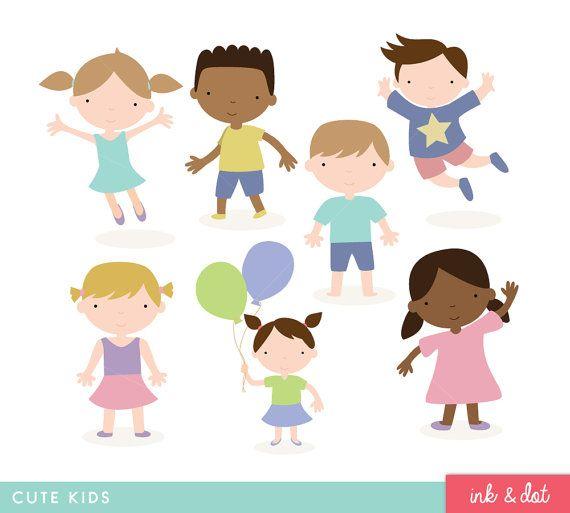 Children Clip Art Cute Kids Graphics Birthday Party Etsy Kids Graphics Clip Art Baby Icon