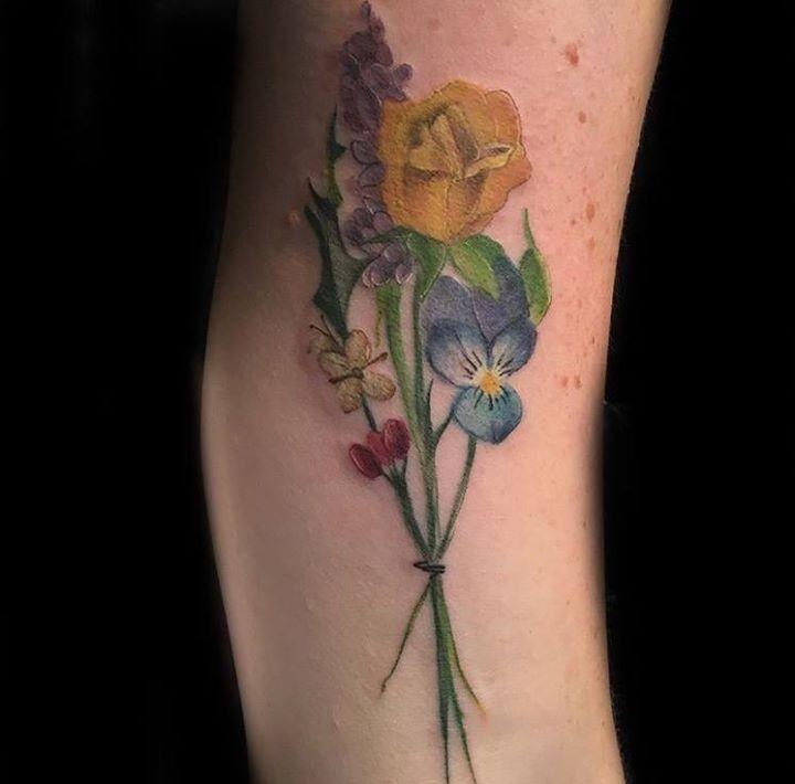 Austin Watercolor Tattoo: Floral Tattoo By Austin From Divinity Tattoo