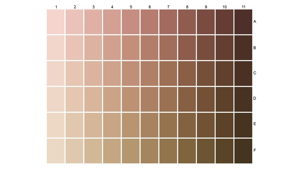 Expert In Skin And Hair Types Around The World L Oreal Group In 2020 Skin Color Chart Skin Color Human Skin Color