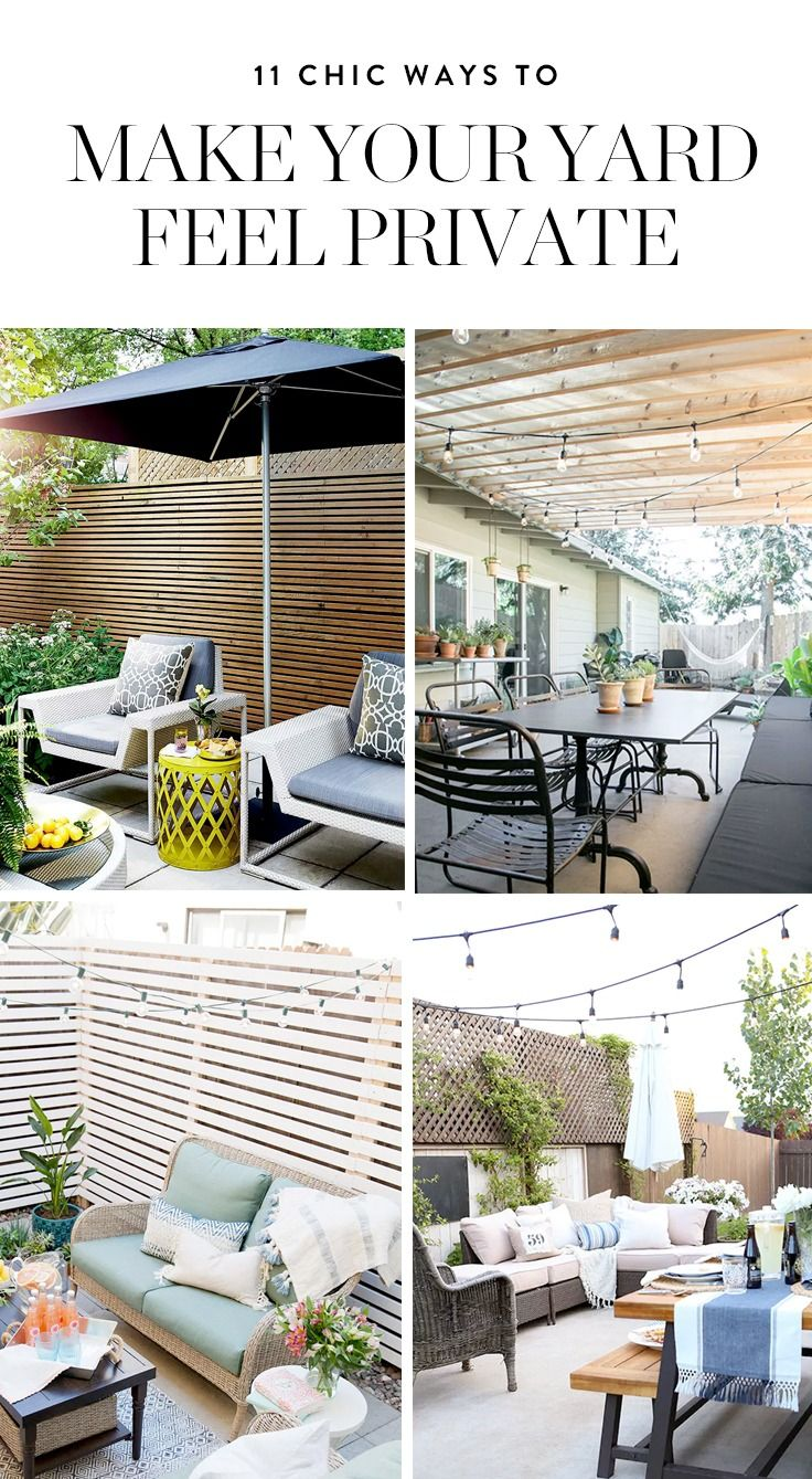 11 Chic Ways to Make Your Yard More Private | Outdoor ...