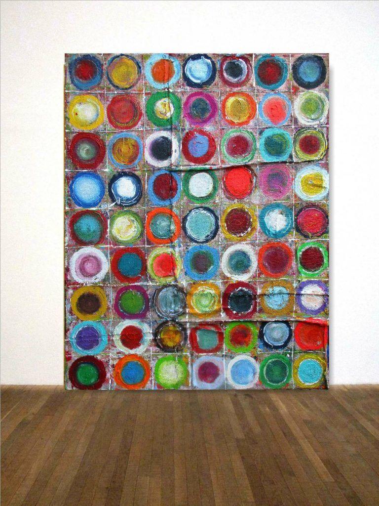 Xxl Kandinsky Hommage Bild Gemalde Kreise 114 145 Cm Unikat Auf