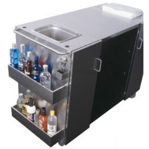 Outdoor Serving Bar Stainless Steel Cart With Spr7os Beverage Refrigerator
