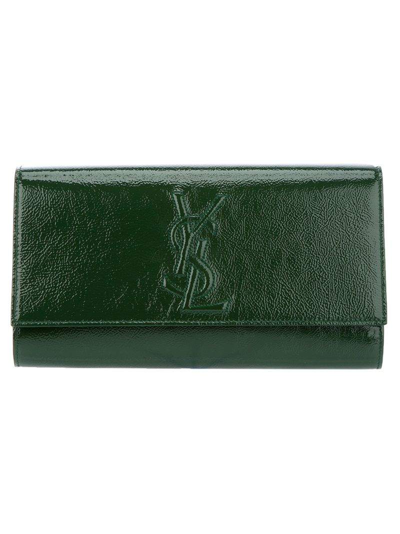 emerald YSL purse
