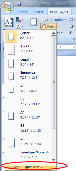 Index of microsoft office