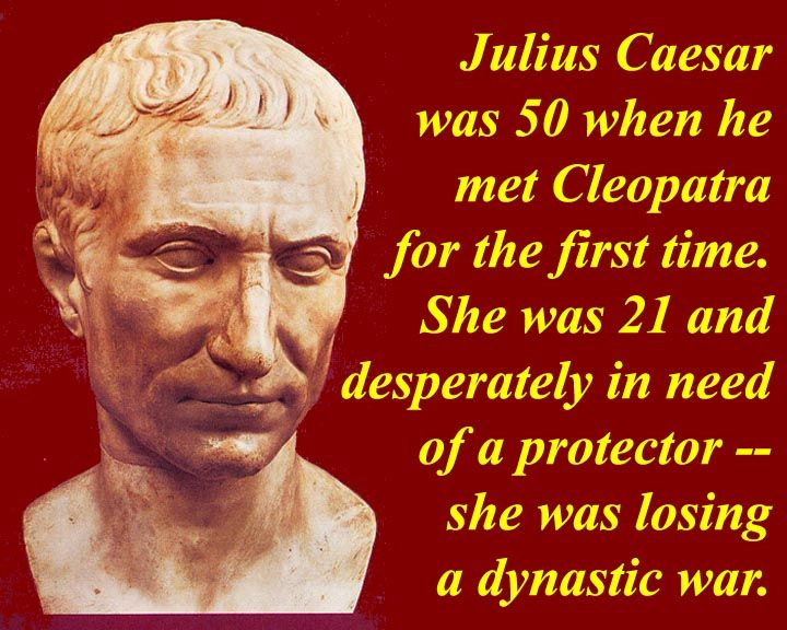 Caesar and cleopatra relationship