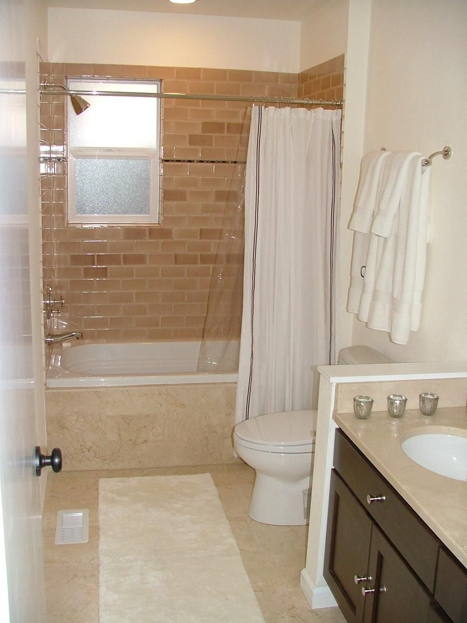 Small Bathrooms Are Less Expensive To Remodel Compared With A - White bath runner for bathroom decorating ideas