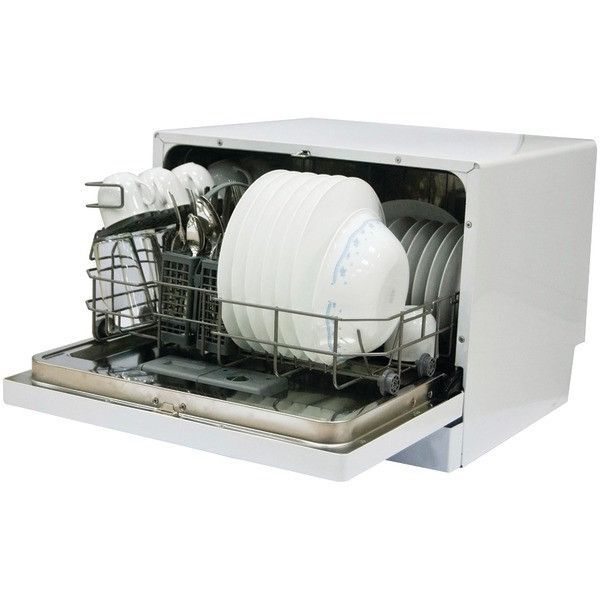 6 Place Countertop Dishwasher Magic Chef Mcscd6w3 Countertop