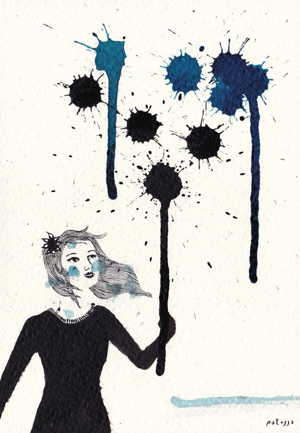 Gotas negras. Gotas azules. By Patossa