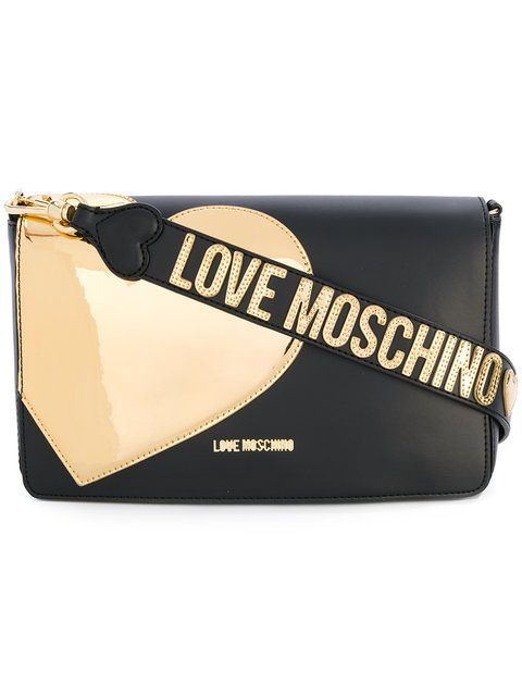 6719150039c LOVE MOSCHINO gold heart shoulder bag. #lovemoschino #bags #shoulder bags #