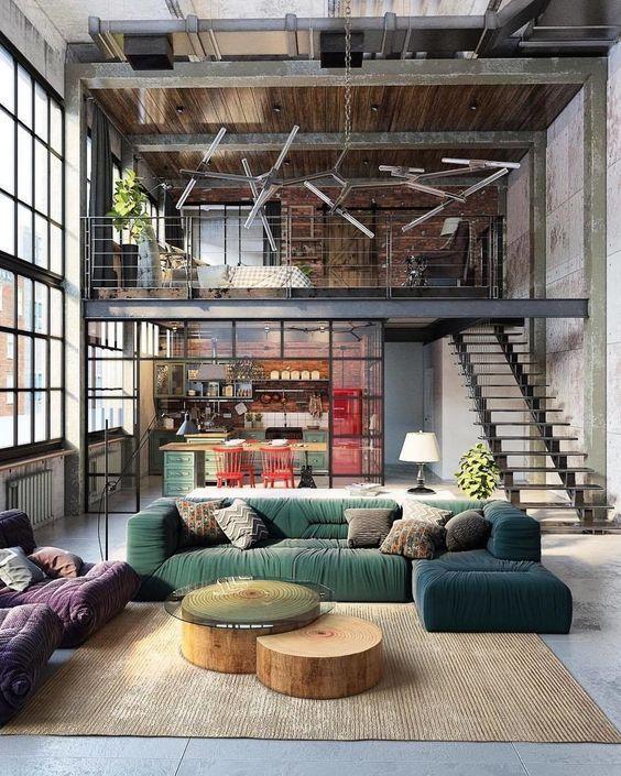 warehouse loft apartment exterior.  Como decorar la casa estilo industrial Industrial