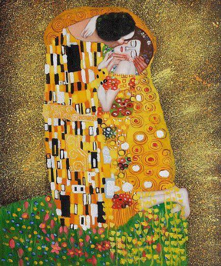 Gustav Klimt The Kiss Painting Art Pinterest Klimt Gustav