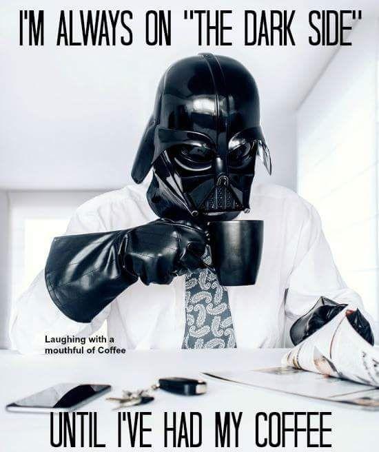 Pin By Jackie Mott On Coffee Darth Vader Star Wars Art Coffee Love
