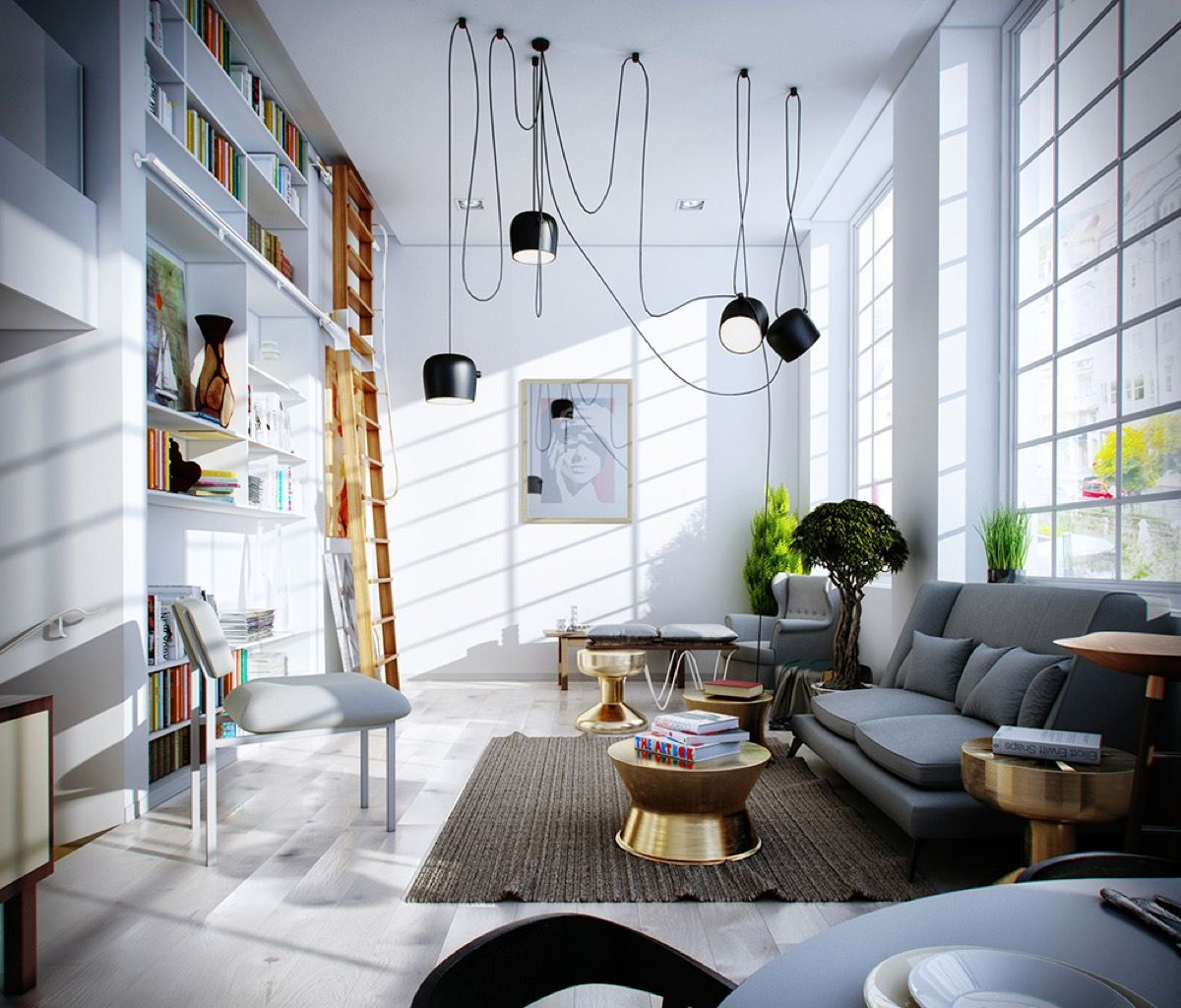 Combining Modern And Minimalist Living Room Interior Designs Which Looks So Outstanding