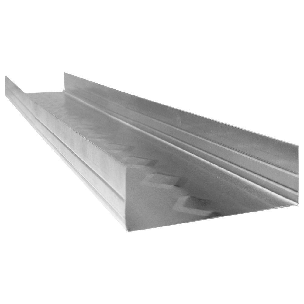3 5 8 In X 10 Ft 25 Gauge Steel Slip Track Wall Framing Stud Galvanized Steel Steel Galvanized
