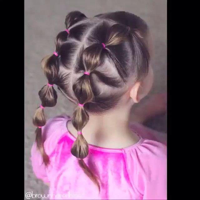 So Cute By Brownhairedbliss ها المرة جبت لكم تسريحة للبنوتات تناسب الي شعرها كثيف مو زي البنو Girl Hair Dos Toddler Hairstyles Girl Baby Hairstyles